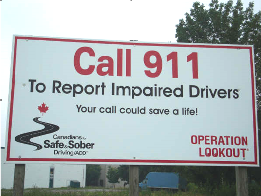 Operation Lookout Roadside Billboard